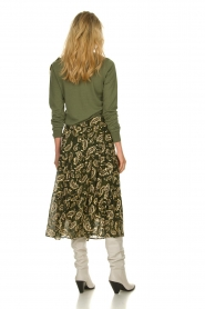 Patrizia Pepe    Wool sweater with brooch Maglia   green    Picture 5