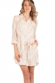 Hoss Intropia | Zijden jurk Tunda | nude   | Afbeelding 2