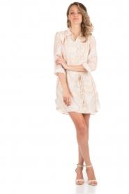 Hoss Intropia | Zijden jurk Tunda | nude   | Afbeelding 3