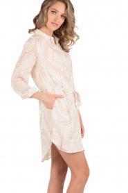 Hoss Intropia | Zijden jurk Tunda | nude   | Afbeelding 4