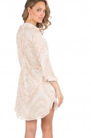 Hoss Intropia | Zijden jurk Tunda | nude   | Afbeelding 5