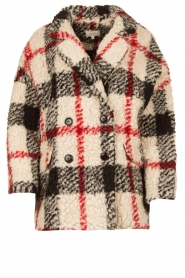 Kocca |  Checkered coat Casimir | black  | Picture 1