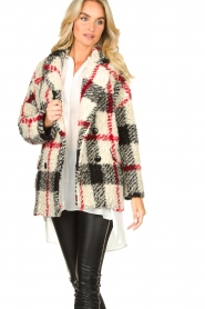 Kocca |  Checkered coat Casimir | black  | Picture 5