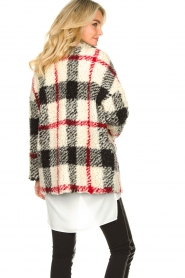Kocca |  Checkered coat Casimir | black  | Picture 7