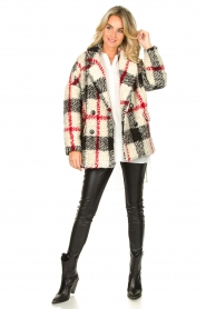 Kocca |  Checkered coat Casimir | black  | Picture 3