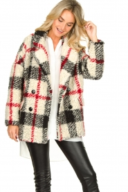 Kocca |  Checkered coat Casimir | black  | Picture 4