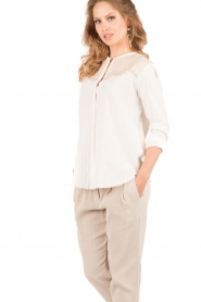 Hoss Intropia | Blouse Varo | off-white  | Afbeelding 4