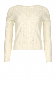 Patrizia Pepe |  Knitted sweater | natural  | Picture 1