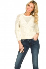 Patrizia Pepe |  Knitted sweater | natural  | Picture 2