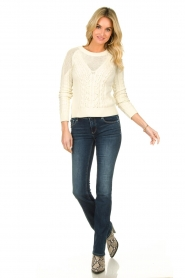 Patrizia Pepe |  Knitted sweater | natural  | Picture 3