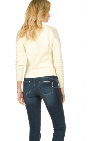 Patrizia Pepe |  Knitted sweater | natural  | Picture 5