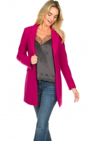 Kocca |  Classic coat Anta | pink  | Picture 4
