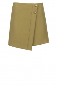 Patrizia Pepe |  Skirt with buttons Janna | green  | Picture 1
