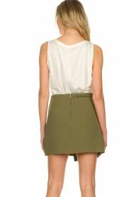 Patrizia Pepe |  Skirt with buttons Janna | green  | Picture 6
