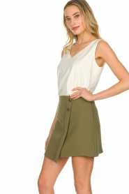 Patrizia Pepe |  Skirt with buttons Janna | green  | Picture 5