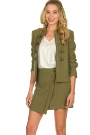 Patrizia Pepe |  Skirt with buttons Janna | green  | Picture 2