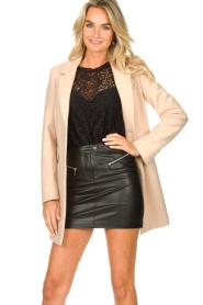 Kocca |  Classic coat Anta | beige  | Picture 4