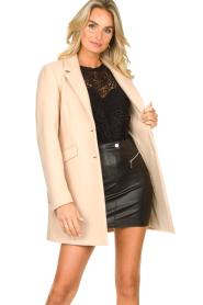 Kocca |  Classic coat Anta | beige  | Picture 2