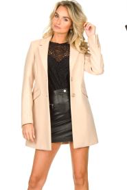 Kocca |  Classic coat Anta | beige  | Picture 5