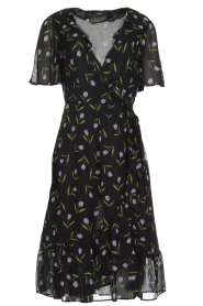 Set |  Dress with tulips print Kelsy | black  | Picture 1