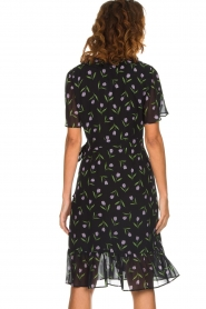 Set |  Dress with tulips print Kelsy | black  | Picture 6