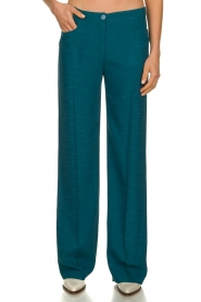 Patrizia Pepe |  Straight pants Ocean | turqoise  | Picture 2