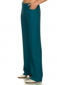 Patrizia Pepe |  Straight pants Ocean | turqoise  | Picture 4