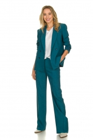 Patrizia Pepe |  Straight pants Ocean | turqoise  | Picture 3