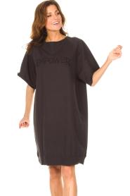 Set | Sweater jurk Rina | zwart  | Afbeelding 2