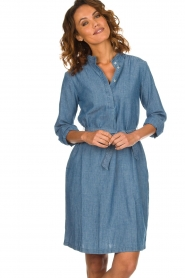 Set |  Denim dress Maeve | blue  | Picture 4