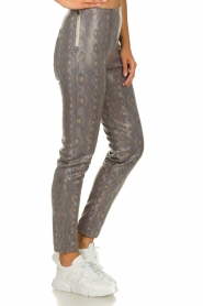 Patrizia Pepe |  Snake printed pants Naomi | naturel  | Picture 4