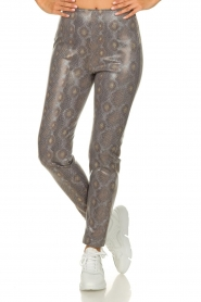 Patrizia Pepe |  Snake printed pants Naomi | naturel  | Picture 2