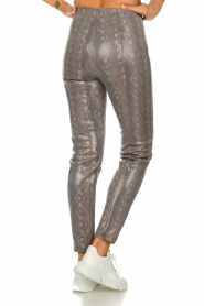 Patrizia Pepe |  Snake printed pants Naomi | naturel  | Picture 5