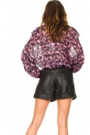 Set |  Leather paperbag short Lynn | black  | Picture 7