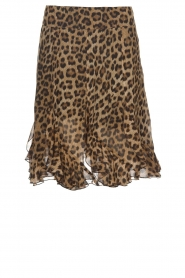 Set |  Skirt with leopard print Lilly | brown  | Picture 1