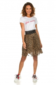 Set |  Skirt with leopard print Lilly | brown  | Picture 3