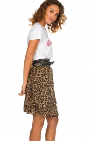 Set |  Skirt with leopard print Lilly | brown  | Picture 4