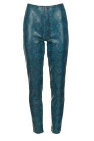Patrizia Pepe |  Snake printed pants Naomi | blue  | Picture 1