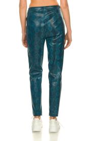 Patrizia Pepe |  Snake printed pants Naomi | blue  | Picture 5