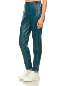 Patrizia Pepe |  Snake printed pants Naomi | blue  | Picture 4