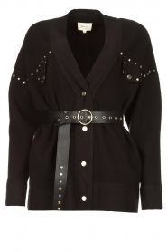 Kocca |  Studded cardigan Nuls | black  | Picture 1