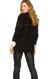 Kocca |  Studded cardigan Nuls | black  | Picture 7