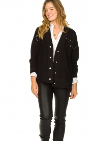 Kocca |  Studded cardigan Nuls | black  | Picture 2