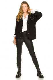 Kocca |  Studded cardigan Nuls | black  | Picture 3