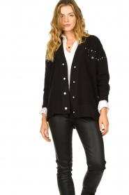 Kocca |  Studded cardigan Nuls | black  | Picture 5