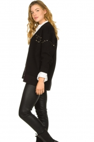 Kocca |  Studded cardigan Nuls | black  | Picture 6