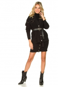 Kocca |  Studded cardigan Nuls | black  | Picture 4