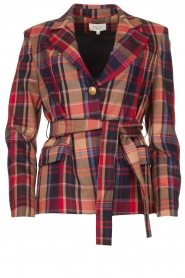 Kocca |  Checkered coat Torquet | blue  | Picture 1