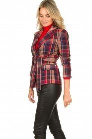 Kocca |  Checkered coat Torquet | blue  | Picture 6