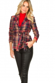 Kocca |  Checkered coat Torquet | blue  | Picture 5